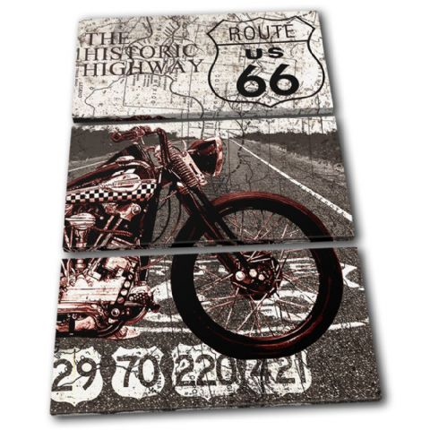 Route 66 Vintage Collage Vintage - 13-6011(00B)-TR32-PO